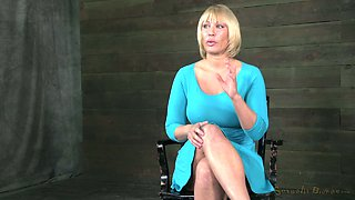 Sensational busty milf Monroe bound to be dominated by BBC