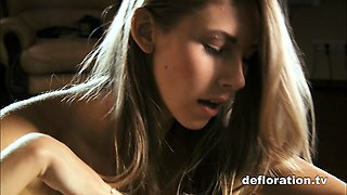 Masha shows nice virgin pussy
