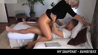 milf gets fucked in shiny pantyhose her snapchat - bambi18xx