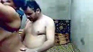 Mature Egyptian aunt sucking her husband's dick deepthroat