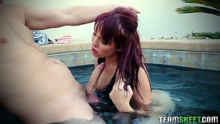 Zoey loves giving her friend with benefits fellatio and she is hungry and hot