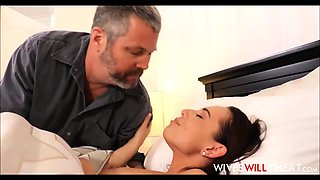 Hot wife cheating and husband watching more at jungleofsex