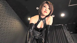 Fabulous Japanese chick in Incredible HD, Latex JAV movie