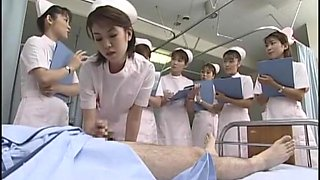 Fabulous Japanese girl Kaho Kasumi, Sasa Handa, Meguru Kosaka in Horny Nurse, Handjobs JAV video