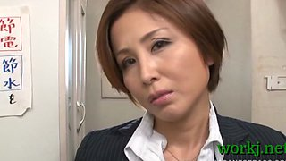 Bitchy office girl in a hot scene
