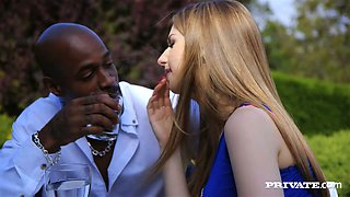 Sassy babe with great rack Stella Cox pleases a horny black man