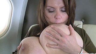Busty MILF Loves Planes