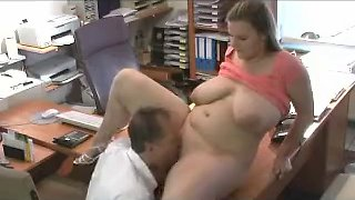 bbw mature fucks in office