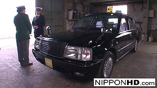 Sexy Japanese Driver Gives Her Boss A Blowjob - NipponHD