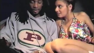 Exotic girl with a spicy ass sucks and fucks a black stick in the bus