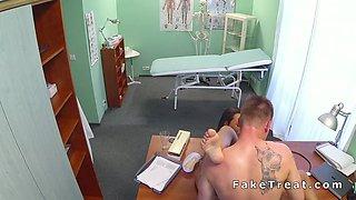 Gorgeous nurse bangs doctor in fake hospital