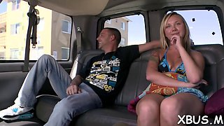 dirty sex in a car with a slut clip