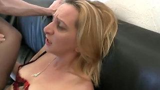 Blonde MILF tries anal