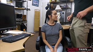 Slender slut Kiley Jay gets pounded in the office