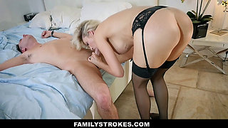 FamilyStrokes - Lonely Stepmom Fucked By Son