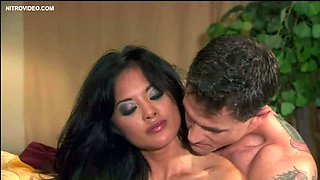 Exotic Kaylani Lei Gets Her Perfectly Shaved Pussy Banged On a Bed