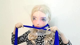 KIGURUMI Self Bondage  breath paly