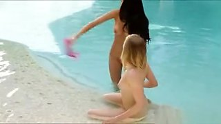 Megan Salinas And Tracy Sweet Dyke Out By The Pool