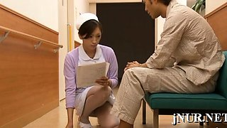 Oriental nurse enjoys sex with a patient in eager xxx