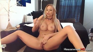 Big breasted blonde milf with perfect body