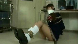 Bound and Gagged in Schoolgirl Uniform