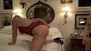 Our Lesbian Nanny's Drills Her Sexy Stepmother with Strapon