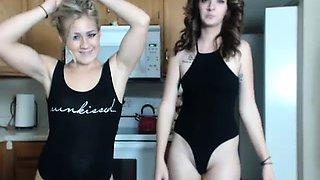 Small Boob MILF On Webcam Rubs Clit