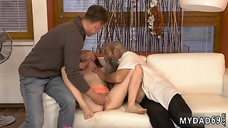 Daddy takes companion playmates daughter Unexpected practice with an older gentleman