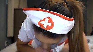 Cosplay Female Nurse Blowjob Cumshot POV