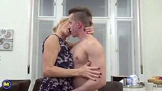 mom molly works over son