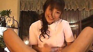 Cute Japanese girl handjob service
