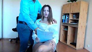 Secretary Seduces Her Boss At Work Live