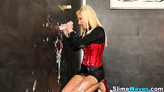 Glamour babe gets messy