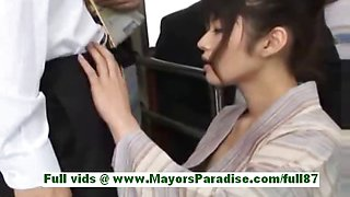 Haruna ayase horny japanese slut in the bus with some guys