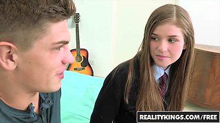 Lara Brookes - Schoolgirl gets pounded in her cute uniform - Reality Kings