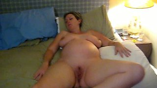 My lovely pregnant wife sleeping naked with her legs open