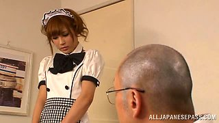 Sexy Maid Anna Anjo lets her master play with her toys