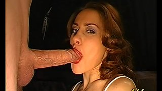 Magdalena and Melanie Moon are swallowing loads of jizz