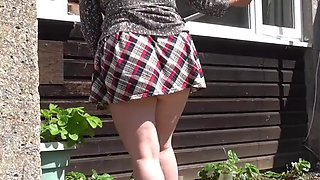 Pantieless washing &amp weeding for a local oap