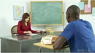 Phoenix Askani the pretty teacher fucking with a Black guy