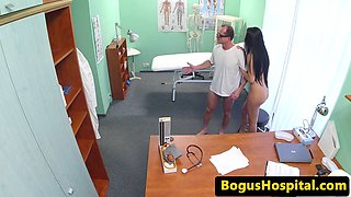 Real patient banged and jizzed in mouth by dr