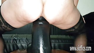 Hot Massive dildo fucking amateur slut