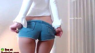 Korean bj model sensual striptease