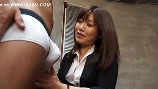 Exotic Japanese chick Saki Izumi in Fabulous Big Tits, Stockings/Pansuto JAV video