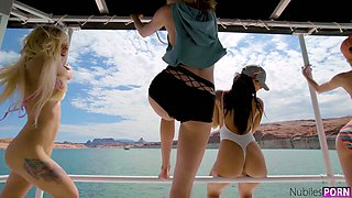 Skinny titless chick Kenzie Reeves gets poked missionary during MFF 3some