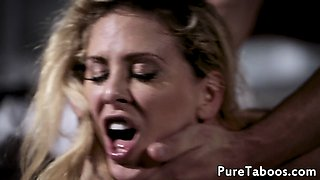 Glamcore stepdaughter fucked in threeway