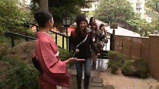 Amazing Japanese model Megu Fujiura, Ai Haneda, Risa Kasumi in Best Handjobs, Strapon JAV clip