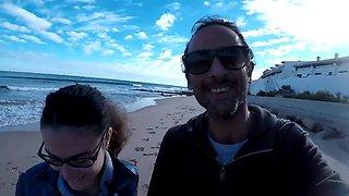 big cum on my glasses & love at beach =d
