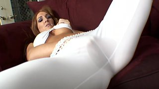 Tattooed milf Morgan Reigns gets her vag licked and fucked from behind