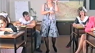 Naughty European classic lady getting teased and seduced